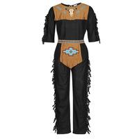 textil Hombre Disfraces Fun Costumes COSTUME ADULTE INDIEN NOBLE WOLF Multicolor