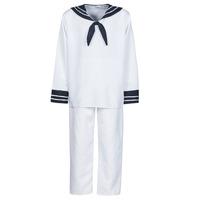 textil Hombre Disfraces Fun Costumes COSTUME ADULTE MARIN BLANC Blanco