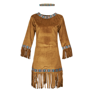 textil Mujer Disfraces Fun Costumes COSTUME ADULTE INDIENNE YOUNG DEER Multicolor