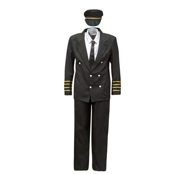 textil Hombre Disfraces Fun Costumes COSTUME ADULTE PILOTE Multicolor
