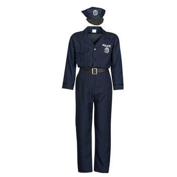textil Hombre Disfraces Fun Costumes COSTUME ADULTE OFFICIER DE POLICE Multicolor