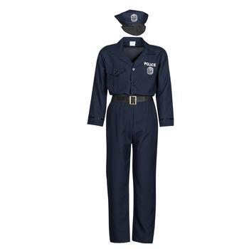 textil Hombre Disfraces Fun Costumes COSTUME ADULTE OFFICIER DE POLICE Multicolor
