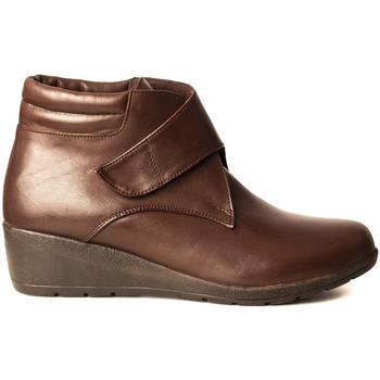 Zapatos Hombre Botas de caña baja Manlisa BOTIN VELCRO Marrón