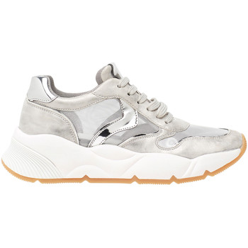 Zapatos Hombre Zapatillas bajas Voile Blanche SHEEL MESH PLATA Multicolor
