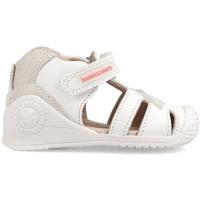 Zapatos Niños Pantuflas para bebé Biomecanics CANGREJERA ARCOIRIS Blanco