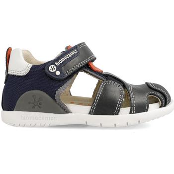 Zapatos Niños Sandalias Biomecanics CANGREJERA NARANJA COMBI Azul
