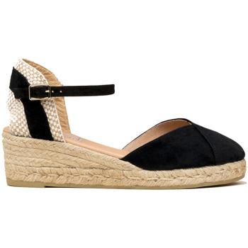 Zapatos Mujer Alpargatas Gaimo VALENCIANA BAJA ANTE Negro