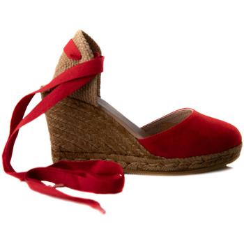 Zapatos Hombre Alpargatas Gaimo YUTE CUÑA ALTA 7 CINTA ANTE Rojo