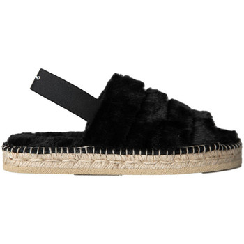 Zapatos Mujer Pantuflas Gaimo ZAPATILLA YUTE  ABIERTA PUNTERA PELO Negro