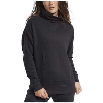 textil Mujer Sudaderas Reebok Sport TE Textured Warm Coverup Negros