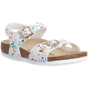 Zapatos Niños Sandalias Birkenstock RIO CONFETTI WHITE CAL S Bianco