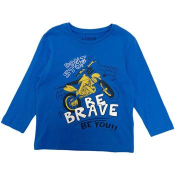 textil Niño Camisetas manga larga Losan 025-1201AL Azul