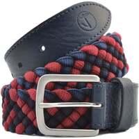 Accesorios textil Hombre Cinturones Seajure Cinturón trenzado azul marino y rojo Rojo y azul marino