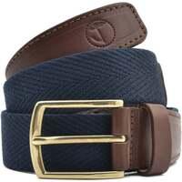 Accesorios textil Hombre Cinturones Seajure Cinturón de lona azul marino Marrón y azul marino