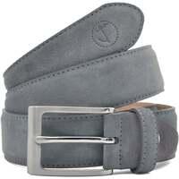 Accesorios textil Hombre Cinturones Seajure Cinturón de ante gris Gris
