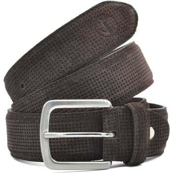 Accesorios textil Hombre Cinturones Seajure Cinturón de ante marrón Marrón