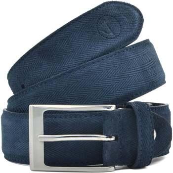 Accesorios textil Hombre Cinturones Seajure Cinturón de ante azul marino Azul marino