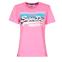 textil Mujer Camisetas manga corta Superdry VL CALI TEE 181 Rosa