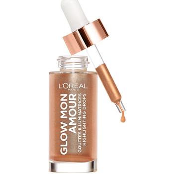 Belleza Mujer Iluminador  L'oréal Glow Mon Amour Highlighting Drops 02-loving Peach