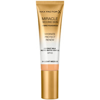 Belleza Mujer Base de maquillaje Max Factor Miracle Touch Second Skin Found.spf20 4-light Medium