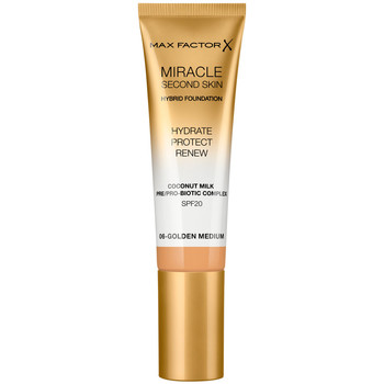 Belleza Mujer Base de maquillaje Max Factor Miracle Touch Second Skin Found.spf20 6-golden Medium 30 ml