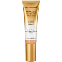 Belleza Mujer Base de maquillaje Max Factor Miracle Touch Second Skin Found.spf20 7-neutral Medium 30 m