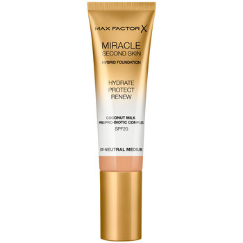 Belleza Mujer Base de maquillaje Max Factor Miracle Touch Second Skin Found.spf20 7-neutral Medium