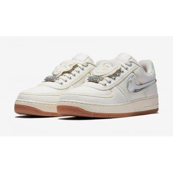 Zapatos Zapatillas bajas Nike Air Force 1 x Travis Scott Sail Sail/Sail