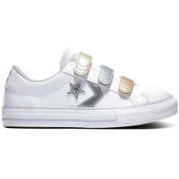 Zapatos Niños Zapatillas bajas Converse Star player 3v ox Blanco