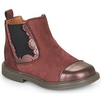 Zapatos Niña Botas de caña baja Little Mary ELVIRE Burdeo