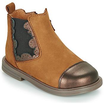 Zapatos Niña Botas de caña baja Little Mary ELVIRE Marrón