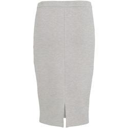 textil Mujer Faldas Vila VISIF SLIT PENCIL SKIRT Gris