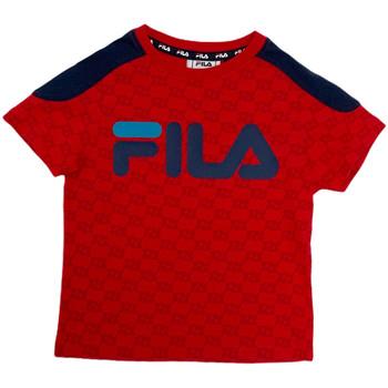 textil Niños Camisetas manga corta Fila 688077 Rojo