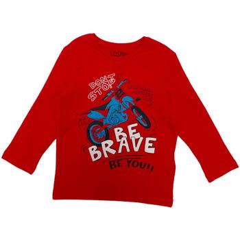 textil Niños Camisetas manga larga Losan 025-1201AL Rojo