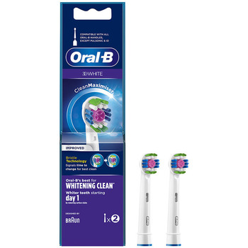 Belleza Tratamiento facial Oral-B 3d White Whitening Clean Cabezales  2 uds