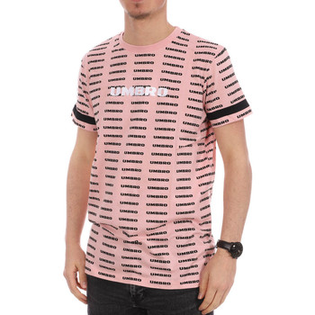 textil Hombre Camisetas manga corta Umbro  Rosa