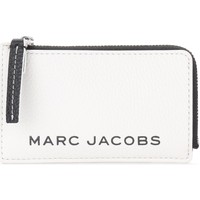Bolsos Cartera Marc Jacobs Tarjetero The  The Colorblock Small Top Zip Blanco
