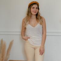 textil Mujer Camisetas sin mangas Céleste INSEPARABLE Crudo
