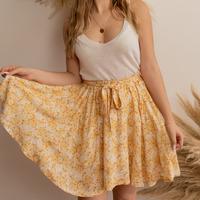 textil Mujer Faldas Céleste EGLANTINE Amarillo / Blanco