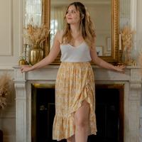 textil Mujer Faldas Céleste TOURTERELLE Amarillo / Blanco