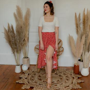 textil Mujer Faldas Céleste TOURTERELLE Rojo / Multicolor