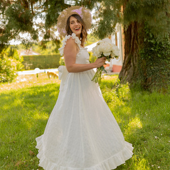 textil Mujer Vestidos largos Céleste AURORE Blanco