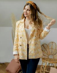 textil Mujer Chaquetas / Americana Céleste ALIZE Amarillo / Blanco