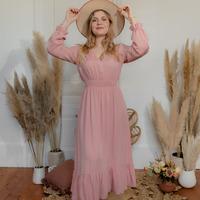 textil Mujer Vestidos largos Céleste COLOMBE Rosa