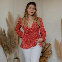 textil Mujer Tops / Blusas Céleste ROSSIGNOL Rojo / Multicolor