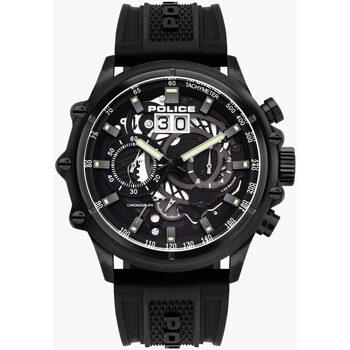 Relojes & Joyas Hombre Relojes analógicos Police PL16018JSB.02P, Quartz, 48mm, 10ATM Negro
