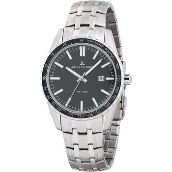 Relojes & Joyas Hombre Relojes analógicos Jacques Lemans 1-2022G, Quartz, 44mm, 10ATM Plata