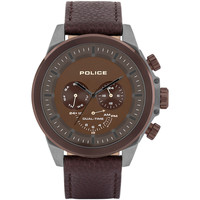 Relojes & Joyas Hombre Relojes analógicos Police PL15970JSUBZ.12, Quartz, 52mm, 5ATM Marrón