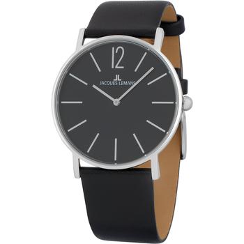 Relojes & Joyas Hombre Relojes analógicos Jacques Lemans 1-2030A, Quartz, 40mm, 5ATM Plata