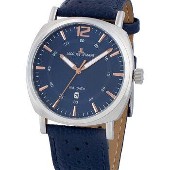Relojes & Joyas Hombre Relojes analógicos Jacques Lemans 1-1943C, Quartz, 42mm, 10ATM Plata